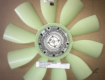 Муфта вентилятора вязкостная в сборе с крыльчаткой ЛиАЗ d=650