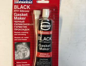 Герметик черный ABRO 0,34 л. (85 г.)(12 шт.) AB-12