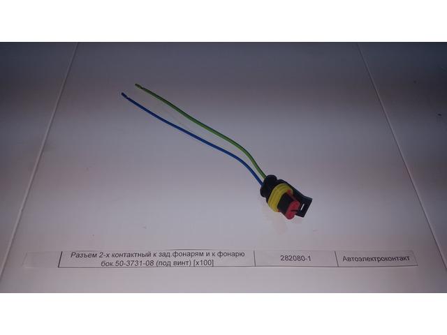 Разъем 2-х контактный к зад.фонарям и к фонарю бок.50-3731-08 (под винт) [x100]