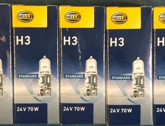 Лампа фары галогеновая 1 контакт 24V 70W H3 с проводком 8GH002090251